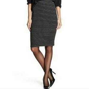 NWT MOSSIMO   Black Gray Stripe Pencil Skirt